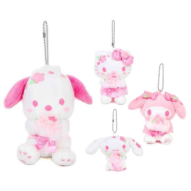造型絨毛玩偶吊飾 Sanrio Original 美樂蒂 KT 大耳狗 帕恰狗 櫻花季 娃娃 日本進口正版授權