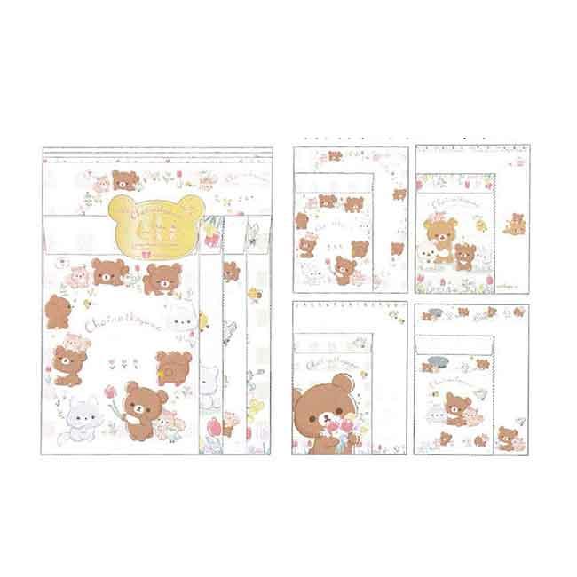 拉拉熊五週年信紙包 日本 San-x 懶懶熊 信封信紙套組 日本進口正版授權