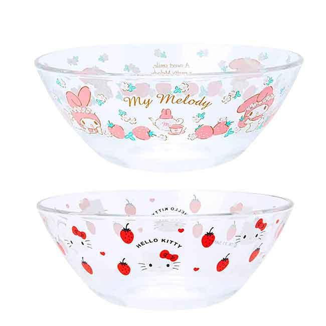 耐熱玻璃碗 日本  Sanrio Original 凱蒂貓 美樂蒂 KITTY 碗 日本進口正版授權