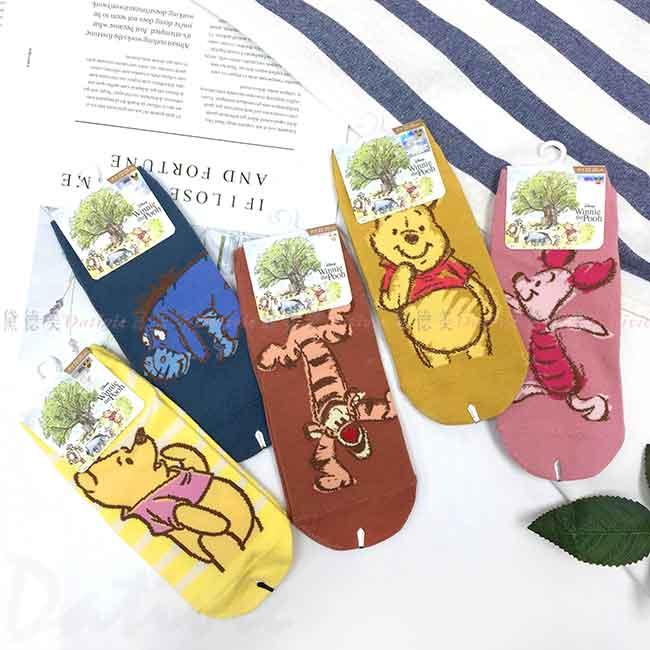 直版襪 Disney 小熊維尼系列 POOH 迪士尼 22-26cm 襪子 正版授權