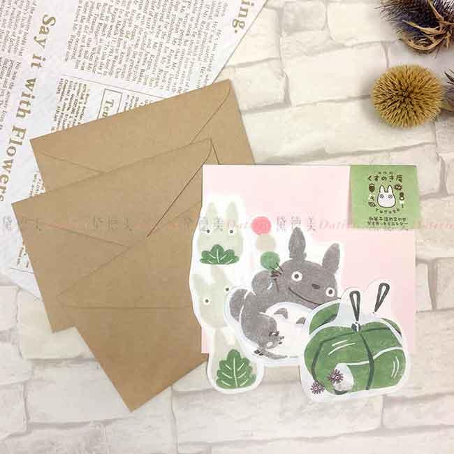 和紙造型信封紙組 日本 宮崎駿 龍貓 TOTORO 信籤組 日本進口正版授權