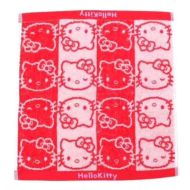 純棉無捻紗方巾 Sanrio 凱蒂貓 HELLO KITTY 三麗鷗 毛巾 日本進口正版授權