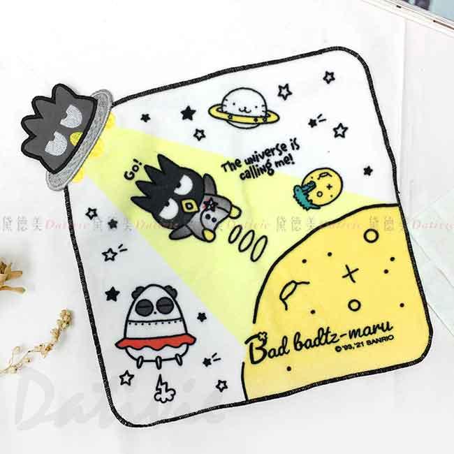 造型純棉割絨方巾 Sanrio Original 酷企鵝 生日宇宙 XOXO 小毛巾 日本進口正版授權