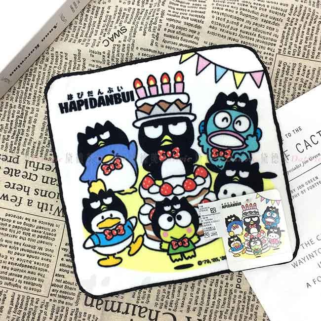 純棉割絨方巾  Sanrio Original 酷企鵝 XOXO 小毛巾 日本進口正版授權
