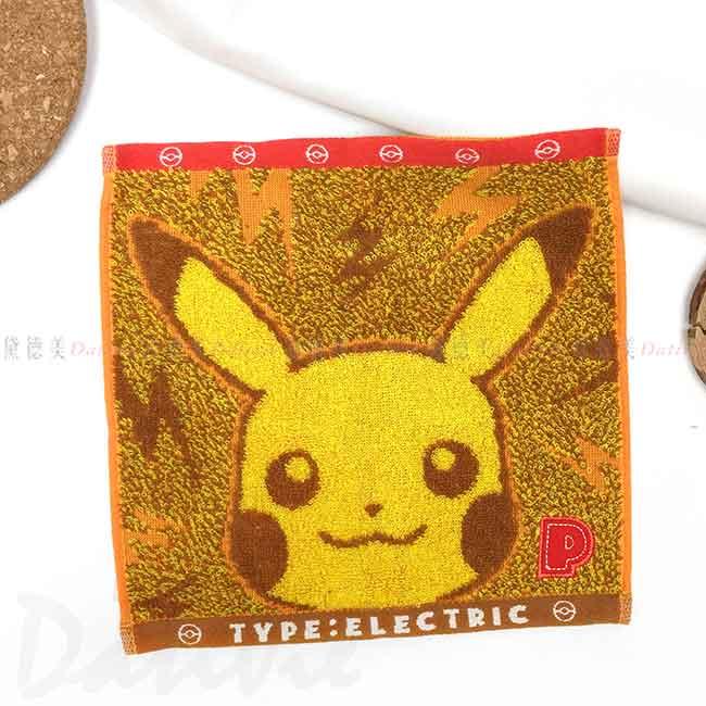 純棉方巾 寶可夢 皮卡丘 神奇寶貝 PIKA POKEMON 毛巾 日本進口正版授權