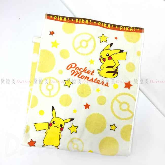 純棉毛巾 寶可夢 皮卡丘 神奇寶貝 PIKA POKEMON 卡通毛巾 日本進口正版授權