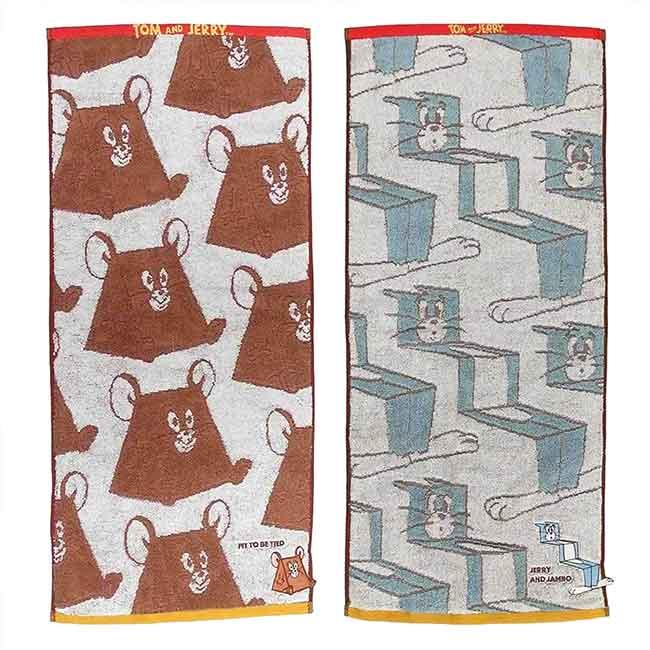 純棉刺繡毛巾 湯姆貓與傑利鼠 SEK抗菌防臭 TOM AND JERRY 丸真 長巾 日本進口正版授權