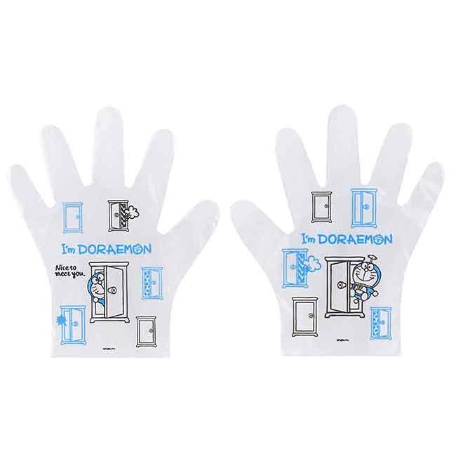 拋棄式塑膠手套 Sanrio 哆啦A夢 SKATER DORAEMON 塑膠手套 日本進口正版授權