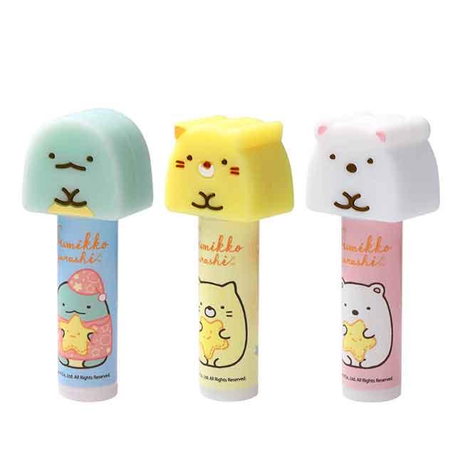 保濕護脣膏 San-x 角落生物 乳木果油 白熊 貓咪 恐龍 潤唇膏 日本進口正版授權