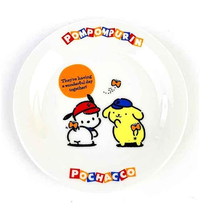 陶瓷圓盤 日本 sanrio 布丁狗 帕恰狗 金正陶器 三麗鷗 盤子 日本進口正版授權