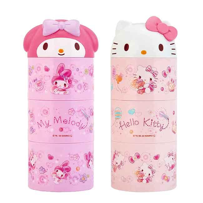 三層便當盒 日本 Sanrio 凱蒂貓 KITTY 美樂蒂 SKATER 食物盒 日本進口正版授權