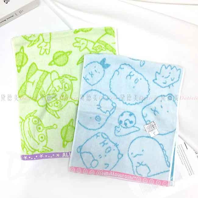 純棉毛巾 玩具總動員 角落小夥伴 運動毛巾 日本進口正版授權