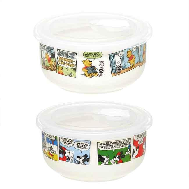 陶瓷保鮮盒 迪士尼 米奇米妮 POOH SKATER 便當盒 日本進口正版授權