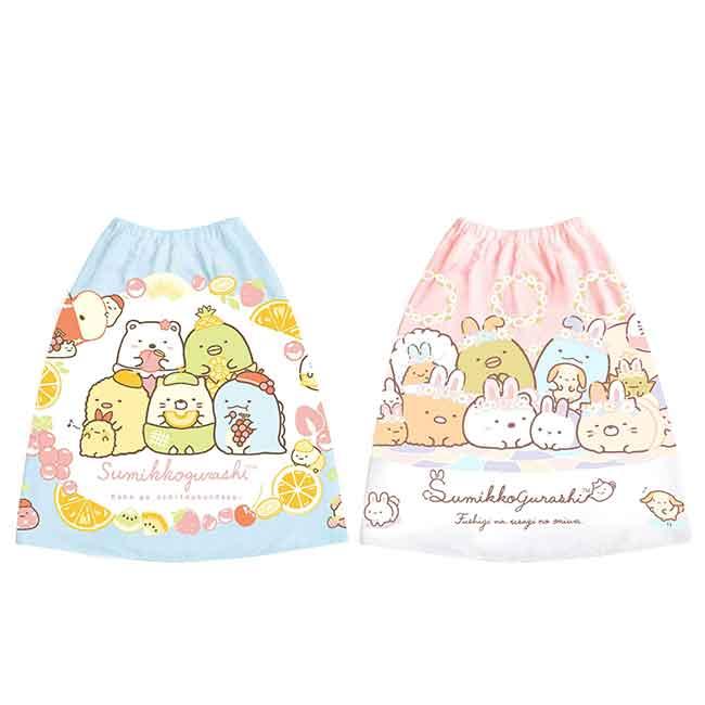 兒童純棉浴袍(M) san-x 角落生物 水果風 圍裙 日本進口正版授權