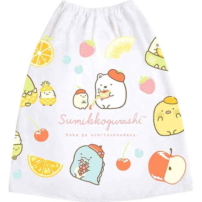 純棉浴袍(L) san-x 角落小夥伴 水果風 圍裙 日本進口正版授權