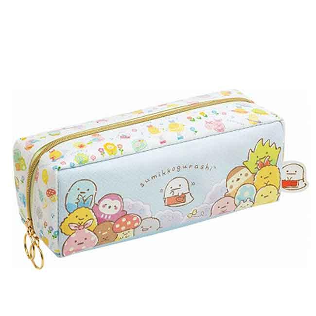 仿皮拉鍊筆袋 san-x 角落生物 遊玩系列 鉛筆袋 日本進口正版授權