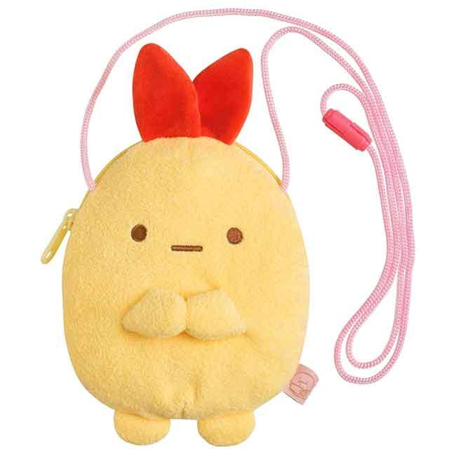 絨毛角色側背包 san-x 角落生物 炸蝦 sumikko gurashi 拉鍊包包 日本進口正版授權