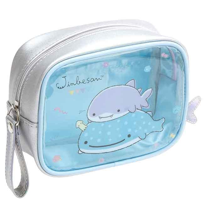 透明萬用包 san-x 鯨鯊先生 鯨鯊桑 海底生物 JINBESAN 收納包 日本進口正版授權