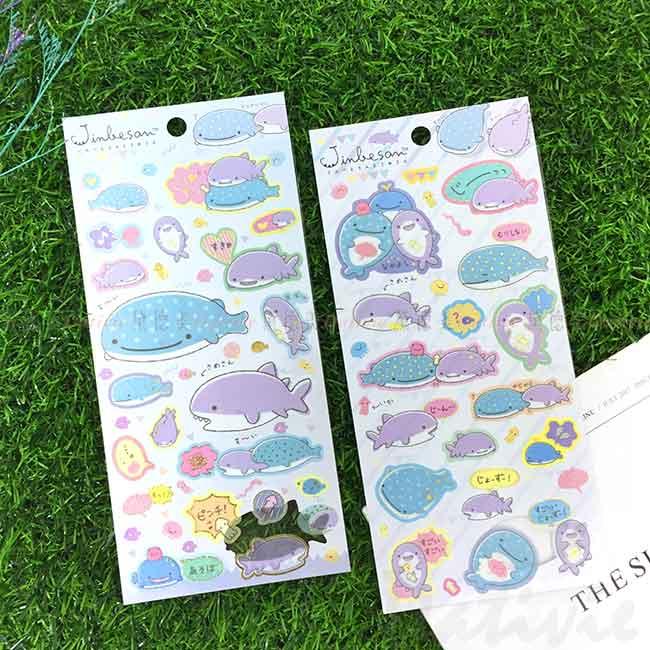 造型貼紙 日本 San-x 鯨鯊先生 鯨鯊桑 海底生物 JINBESAN 玩具貼紙 日本進口正版授權