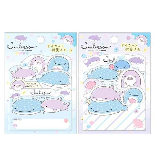 造型便條紙 日本 san-x 鯨鯊先生 鯨鯊桑 海底生物 JINBESAN memo紙 日本進口正版授權