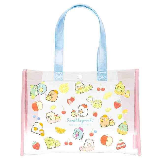 防水透明提袋 San-x 角落小夥伴 sumikko gurashi 水果風 提包 日本進口正版授權