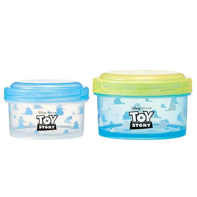 圓形塑膠保鮮盒組 2入 日本 Disney PIXAR 玩具總動員 食物盒 日本進口正版授權
