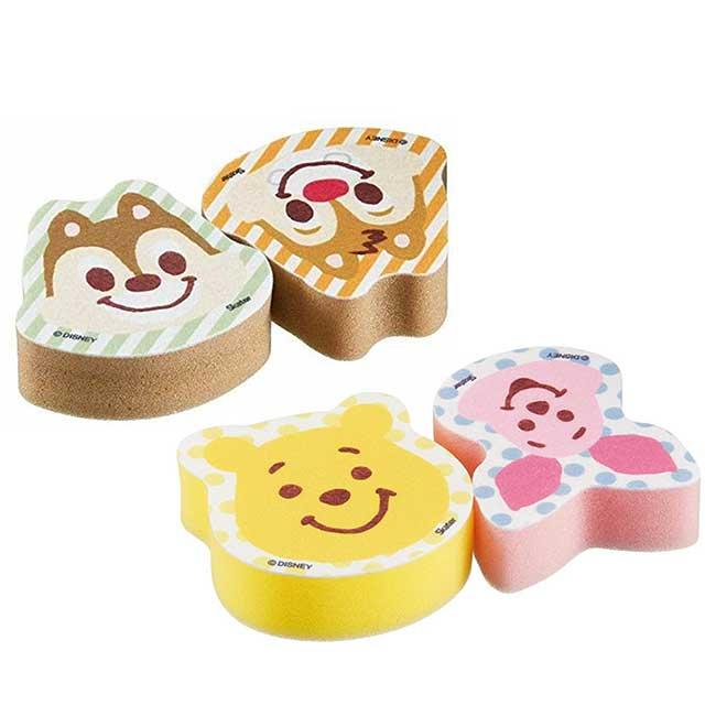 造型清潔海綿 迪士尼 維尼小豬 奇奇蒂蒂 SKATER 清潔用具 日本進口正版授權