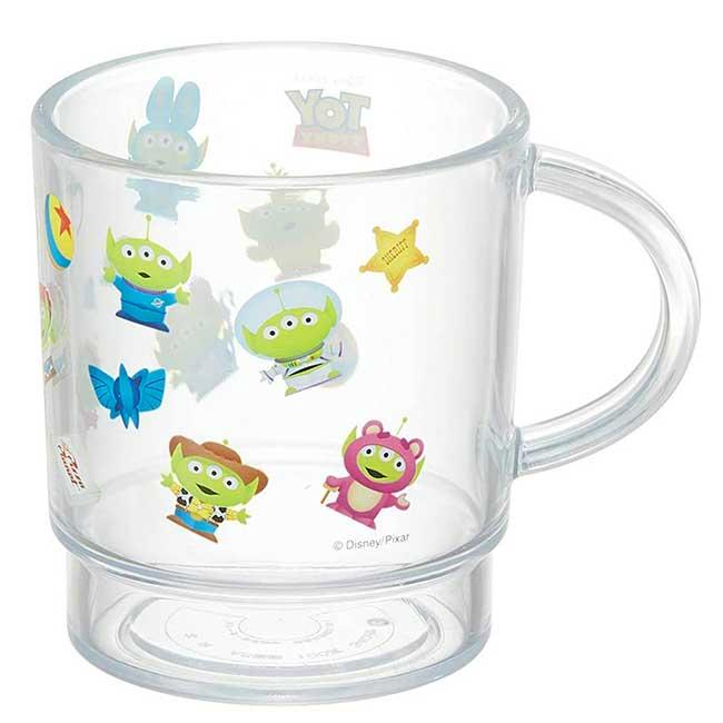 塑膠水杯 日本 Disney 皮克斯 玩具總動員 三眼怪 Alien 可堆疊 漱口杯 日本進口正版授權