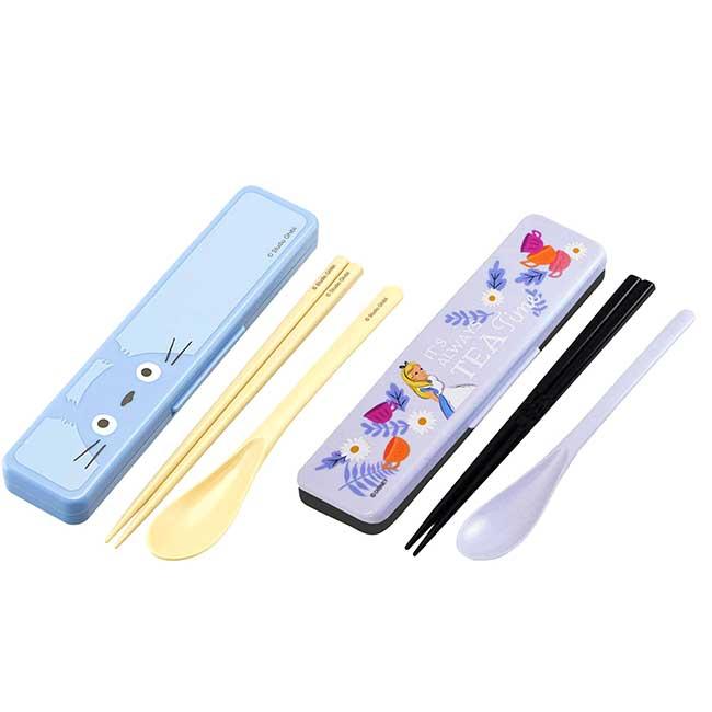湯筷附盒 日本 愛麗絲 龍貓 豆豆龍 SIAA抗菌加工 Ag+抗菌 餐具 日本進口正版授權