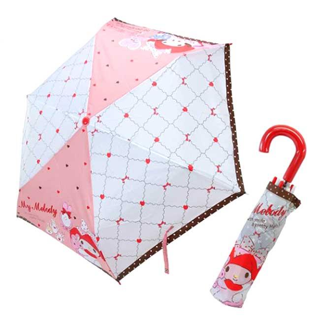 彎把抗風手動摺疊傘 Sanrio 美樂蒂 My Melody 三麗鷗 雨傘 日本進口正版授權