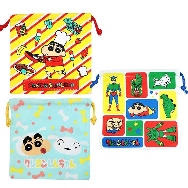 純棉束口袋 蠟筆小新 Crayon Shin Chain クレヨンしんちゃん 收納袋 日本進口正版授權