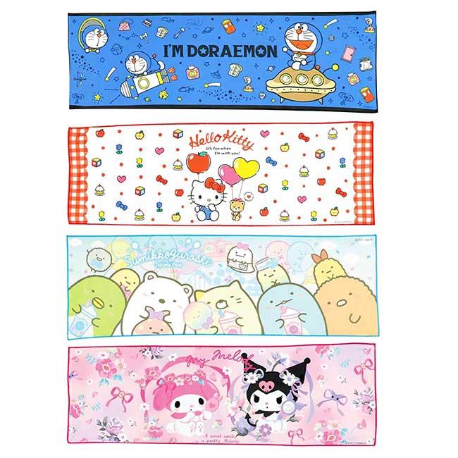 涼感運動毛巾 Sanrio 凱蒂貓 角落生物 哆啦A夢 COOL MUFFLER 日本進口正版授權