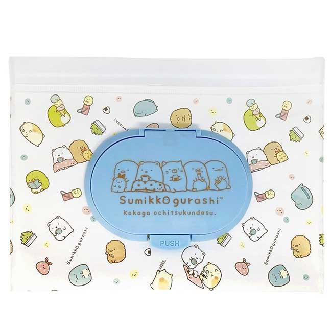 夾鏈袋防水濕紙巾包M San-x 角落小夥伴 收納袋 日本進口正版授權