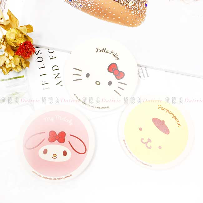 陶瓷吸水杯墊 Sanrio 凱蒂貓 KT 美樂蒂 布丁狗 陶製杯墊 日本進口正版授權
