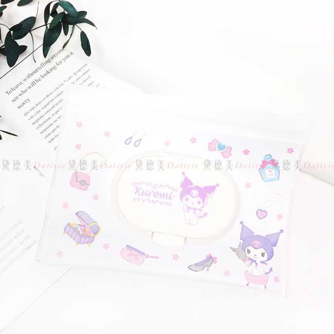 夾鏈袋防水濕紙巾包 三麗鷗 酷洛米 KUROMI 收納袋 日本進口正版授權