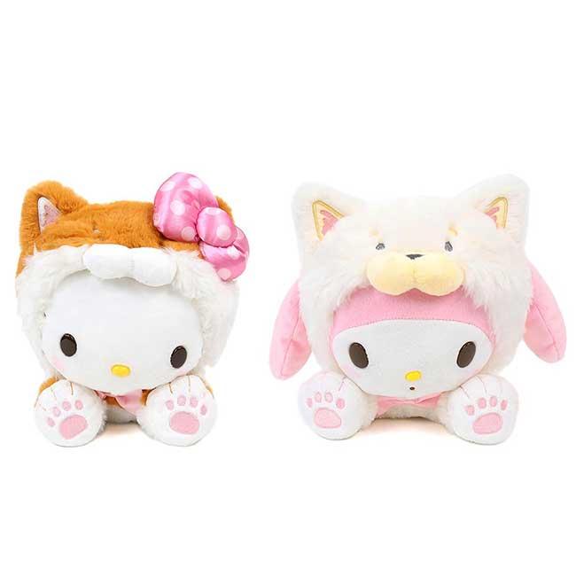 絨毛變裝玩偶  Sanrio Original 美樂蒂 KITTY 柴犬 娃娃 日本進口正版授權