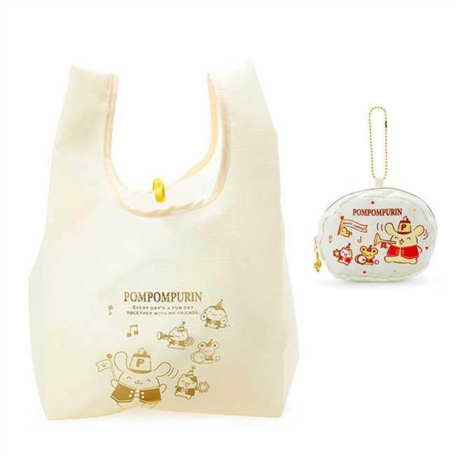 環保購物袋 三麗鷗 Sanrio Original 布丁狗 微笑 Pompompurin 折疊購物袋 日本進口正版授權