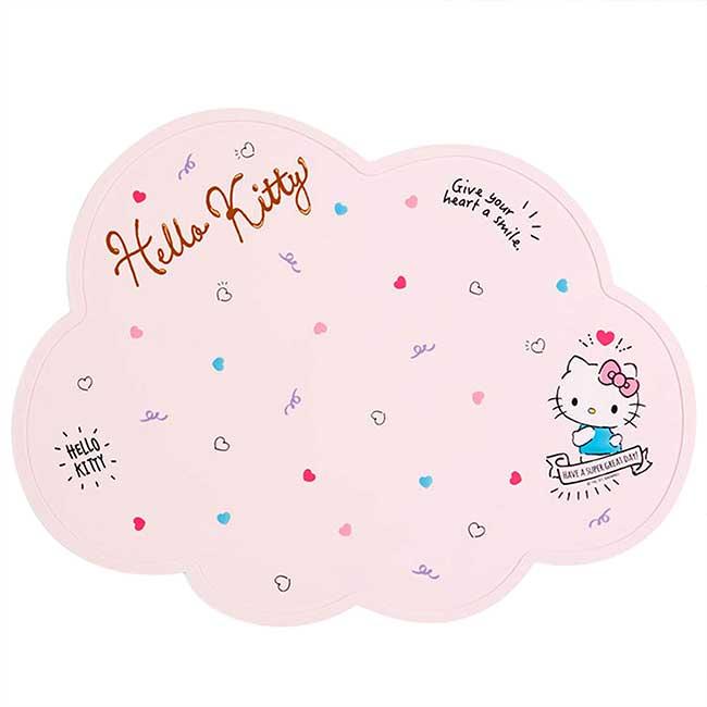 造型矽膠餐墊 三麗鷗 Sanrio Original 凱蒂貓 KITTY 桌墊 日本進口正版授權
