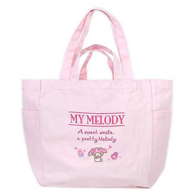 船形帆布側背袋 三麗鷗 Sanrio Original 美樂蒂 MY MELODY 大包包 日本進口正版授權