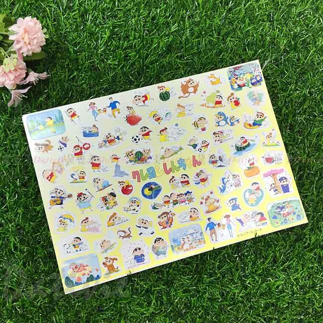 貼紙 日本 蠟筆小新 Crayon Shin Chain クレヨンしんちゃん 日本進口正版授權