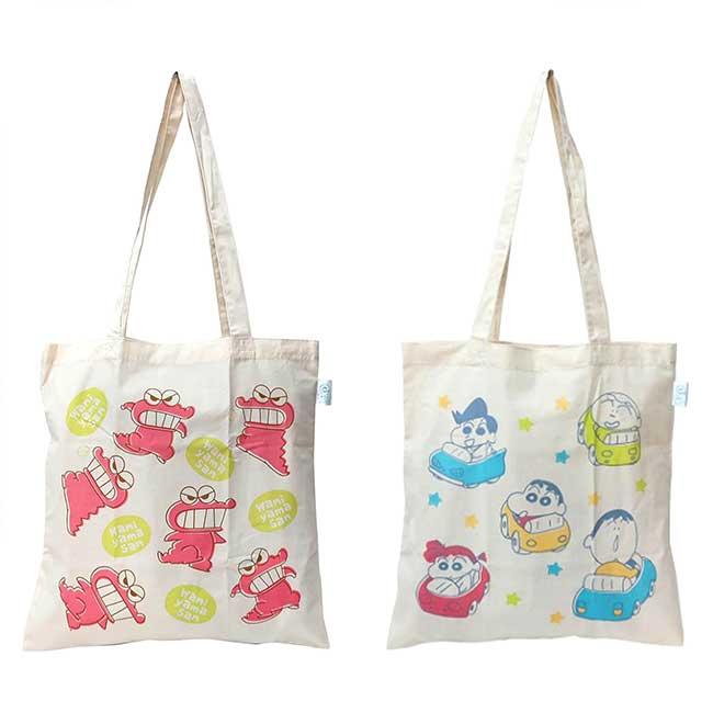 純棉環保袋 蠟筆小新 クレヨンしんちゃん 購物袋 日本進口正版授權