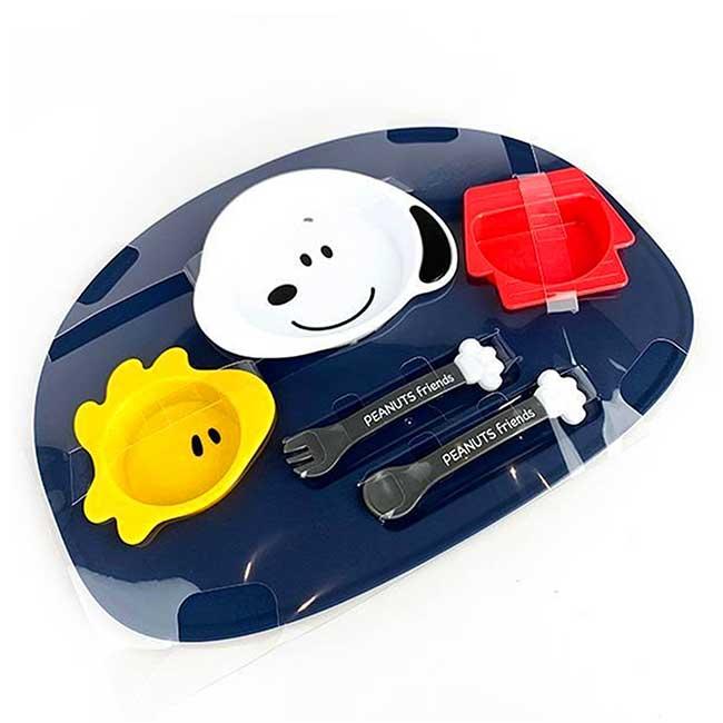 嬰兒餐盤 日本 史努比 nishiki SNOOPY PEANUTS 餐具組 日本進口正版授權