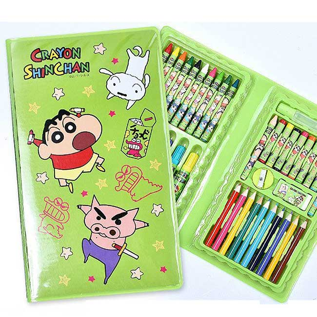 繪畫文具組 蠟筆小新 Crayon Shin Chain クレヨンしんちゃん 畫筆組 日本進口正版授權