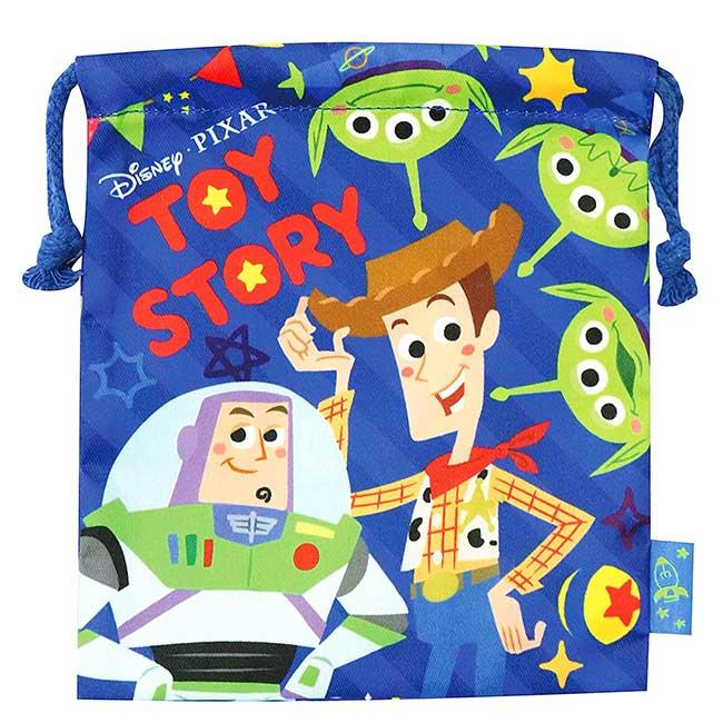 束口袋 迪士尼 皮克斯 玩具總動員 三眼怪 Alien 收納袋 日本進口正版授權