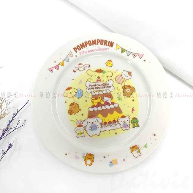 陶瓷圓盤 日本 Sanrio 布丁狗 25週年 Pompompurin 金正陶器 盤子 日本進口正版授權