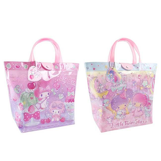 防水透明提袋 Sanrio 雙子星 美樂蒂 MY MELODY 提包 日本進口正版授權