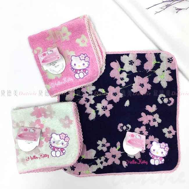 純棉方巾 三麗鷗 KITTY 無燃系 凱蒂貓 小毛巾 日本進口正版授權