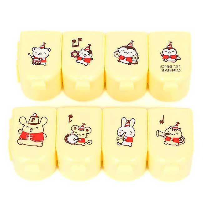連接八格藥盒 日本 Sanrio Original 布丁狗 Pomupomupurinin 小物盒 日本進口正版授權