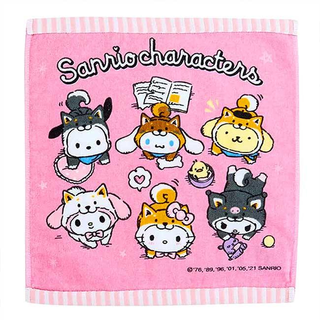 純棉方巾 Sanrio Original 凱蒂貓 柴犬 角色集合 Character 毛巾 日本進口正版授權