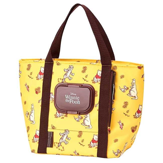 保冷手提袋 迪士尼 小熊維尼 SIAA抗菌 SKATER 濕紙巾專用袋 日本進口正版授權